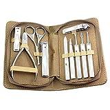LBYSK 10 PCS Professional Nail Cutter Pedicure Scissors Set, Clippers De Uñas Herramientas De Manicura Inoxidable, Conjunto Profesional Cuchillas De Acero Duro Tweeer,B