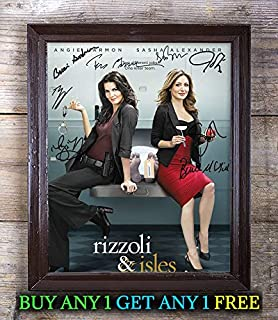 Rizzoli & Isles Tv Show Cast Autographed Signed 8x10 Photo Reprint #65 Special Unique Gifts Ideas Him Her Best Friends Birthday Christmas Xmas Valentines Anniversary Fathers Mothers Day