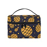 Travel Cosmetic Bag Teapot Plate Pan Flower Toiletry Makeup Bag Pouch Tote Case Organizer Storage for Women Girls