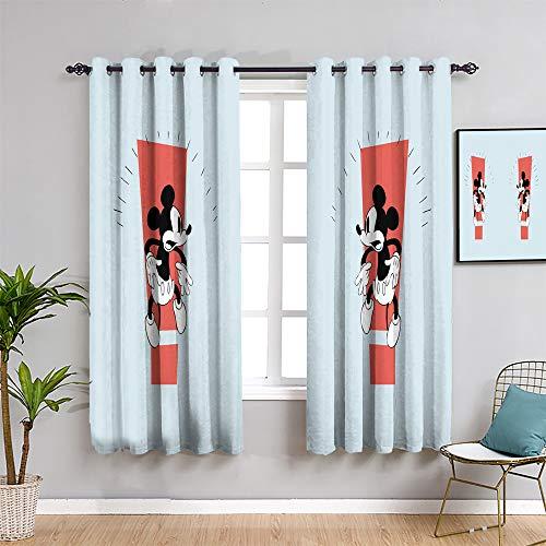 Mickey Minnie Mouse - Cortinas para puerta corredera para decoración del hogar, 160 cm de largo, diseño de Mick-ey Mou-se