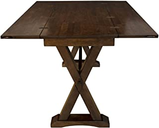 A-America Brooklyn Heights Flip Top Dining Table in Dark Warm Gray