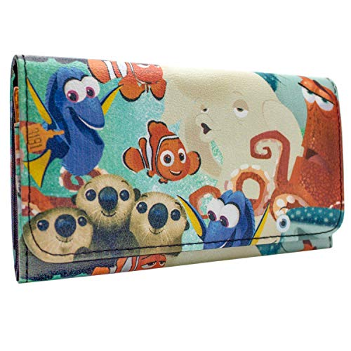 Finding Dory Nemo & Marlin Coin and Card Tri-Fold Purse Blue