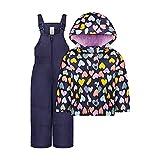 Carter's Baby Girls' Heavyweight 2-Piece Skisuit Snowsuit, Navy Hearts, 24MO