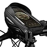 WHEEL UP Bike Phone Mount Bags Waterproof Front Frame Top Tube Handlebar Bags with Touch Screen Phone Holder Case Sports Bicycle Storage Bag