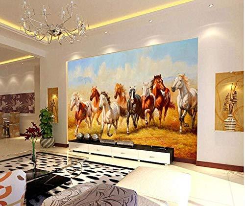Pferd Hintergrundbild Für Fernseher Hintergrundbild Wohnzimmer Schlafzimmer fototapete 3d Tapete effekt Vlies wandbild Schlafzimmer-300cm×210cm