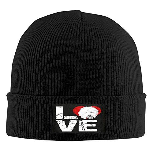 IHJK Jkkk Unisex Ancient English Sheepdog Dog Lovers Skull Hats Knit Cap Winter Warm Cap Beanie Hats Black