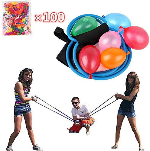 YUYON 3-Personen-Wasserballwerfer, 110 12,7 cm Großes Wasserball Und Schnelles Wasserinjektionswerkzeug, Geeignet Für Kinder Und Erwachsene,Blue