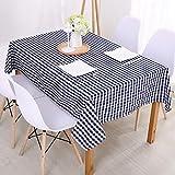 Xiaobyyao Einfaches Stoffplaid wasserdicht 90 * 90cm dunkelblaues kleines Plaid,Wachstuchtischdecke Wachstuch Wachstischdecke Tischdecke abwaschbar Industry Style Modern