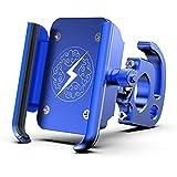 GW Bicicleta Soporte para teléfono móvil Bicicleta Motocicleta Manillar Soporte T6063 aleación de Aluminio 360 Grados Marco de Bicicleta giratoria,Blue