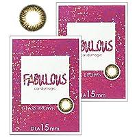 FABUROUS ファビュラス グラスブラウン ワンマンス (-3.50) 2箱セット