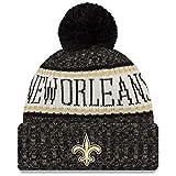 New Era ONF18 Sport Knit Bommelmütze New Orleans Saints Schwarz, Black/Beige, Einheitsgröße