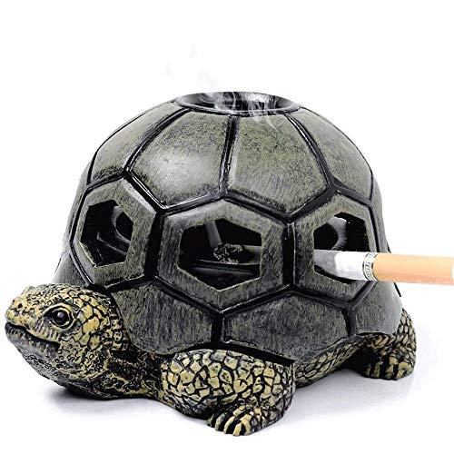 Hogar Ceniceros para Puros Cenicero, cenicero lindo de la tortuga con la tapa - al aire libre de la Cenicero - bandeja cubierta de ceniza de cigarrillos titular, for casa y jardín para decoración en e
