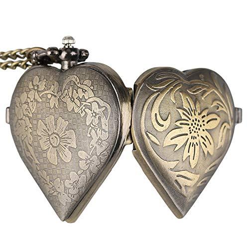 TOOGOO Pendiente del Collar del Amor de Se?Ora Vintage Hermoso Regalo de San Valentín Reloj de Bolsillo de Cuarzo de Lujo Romántico