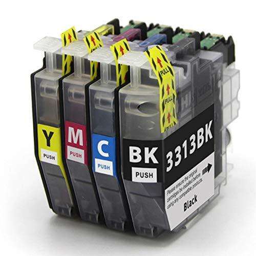 Cartucho de tinta compatible LC3313, color negro y color para Brother LC3313 para usar con impresora Brother MFC-J491DW MFC-J497DW MFC-J690DW MFC-J895DW