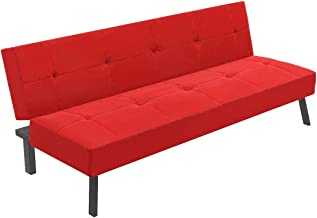 XEN Foldable Sofa, Red - H 80 cm x W 100 cm x D 30 cm