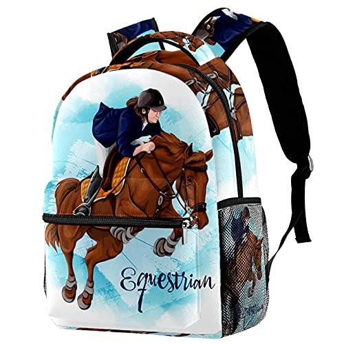 Travel Backpack Equestrian Daypack School Backpack For Teens