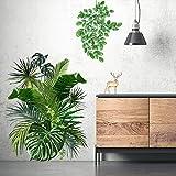 Sticker Mural Bricolage Muraux Tropicaux Plante Feuille Palmier...