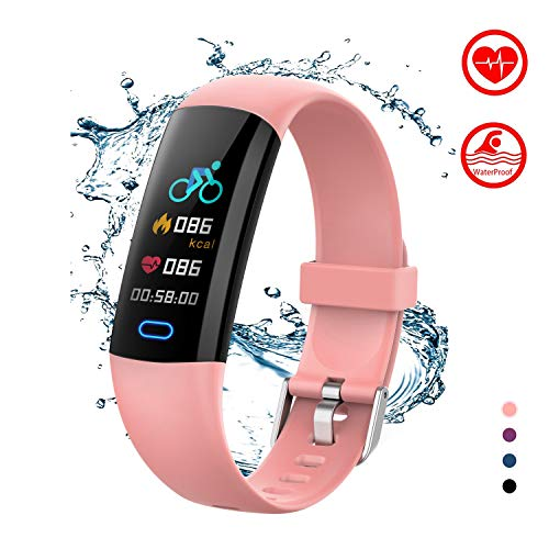 BingoFit Kids Fitness Tracker Watch with Heart Rate Monitor, Swimproof...
