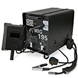 XtremepowerUS MIG-195 Gas-Less Gas Flux Wire Core Welder Welding Machine Automatic Wire Feed 230V 195AMP Welder w/Wheel Kit