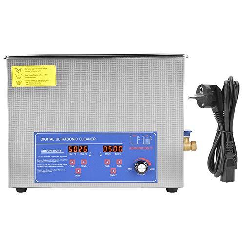 15L ultraljudsrengörare, 40KHz ultraljudstvättmaskin, ultraljudsmyckenrengöringsmedel ultraljudstvätt, digital ultraljudstvättmaskin Temperaturjusterbar ultraljudstvätt (EU)