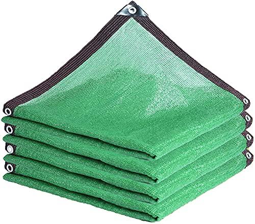 JSDKLO Toldos,Paño de Red de Sombra Red de Sombra Verde 75-95% Tasa de sombreado, a Prueba de Viento, a Prueba de Polvo y refrigeración, fácil de Instalar(Size:6x6m)