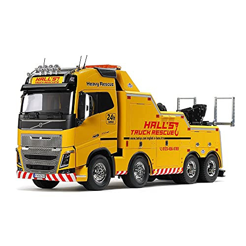 TAMIYA 56362 1:14 Volvo FH16 Abschlepper 8x4, Bausatz zum Zusammenbauen, RC Truck, fernsteuerbarer, Lastwagen, LKW, Konstruktionsspielzeug, Modellbau, Basteln