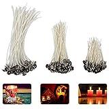 Madholly 300 mecha vela, mechas para velas en 3 tamaños diferentes (90 mm, 150 mm y 200 mm) para la fabricación de velas, vela DIY …
