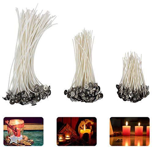 Madholly 150 mecha vela, mechas para velas en 3 tamaños diferentes (90 mm, 150 mm y 200 mm) para la fabricación de velas, vela DIY …
