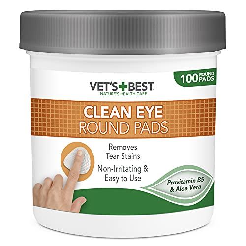 Vet's Best Almohadillas de Limpieza de Ojos Naturales para Perros 100 Unidades