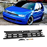 Front Upper Grille For VW Golf + GTI 1999-2005 Badgeless Style Flat Matte Black