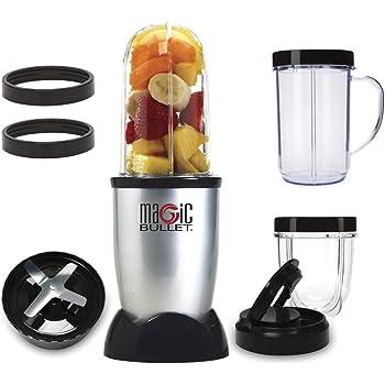 NutriBullet MBR1128 - Batidora de Vaso, Compacta de Alta Velocidad, para Smoothies de Frutas y Verduras, Plástico Libre BPA, 200 W, con Recetario en Español, Apto Lavavajillas, Gris: Amazon.es: Hogar