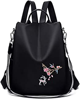 Embroidered Simple Ladies Backpack Trend Anti-Large Capacity Water Oxford Cloth Shoulders