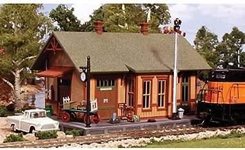 Pre-Fab Building Woodland Station HO Woodland Scenics, grey, 8