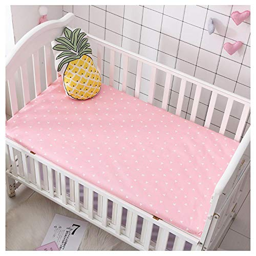 RSM Baby Mattress Cover Cotton Breathable Baby Bed Bed Sheet Newborn Sheets Infant Mattress Cover Protector,V,130 * 70x5cm