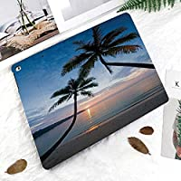 IPad Pro 11 ケース 2018新モデル対応 二つ折スタンド保護ケース iPad Pro 11インチ 専用カバー オートスリープ機能付き 手帳型 タブレットカバークット島タイ夏の海の静かなエキゾチックなビーチに沈む夕日