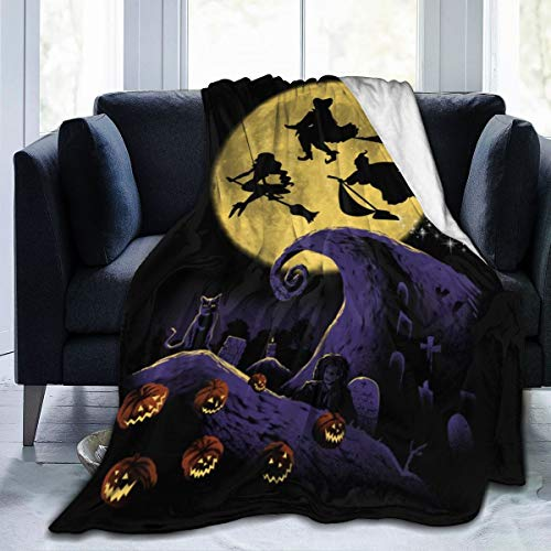 Primrosy H-Ocus Pocus Halloween Soft Throw Blankets for Couch, Bed, Sofa Luxurious Warm Weighted Blanket for All Seasons 80 X 60 Inch for Adults
