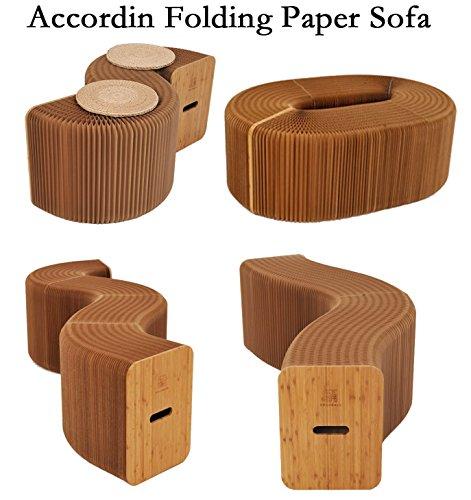 Smartlife Exclusivo Kraft Papel Hecho Plegable elástico Silla y sofá (diseño Idea de acordeón)