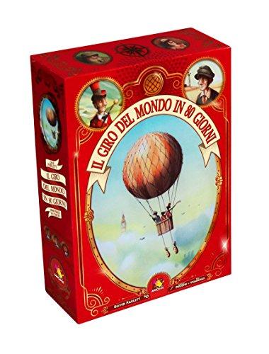 Asmodee-Der Weltreise in 80 Tagen, Brettspiel in Italienischer Ausgabe (8895 Italien)