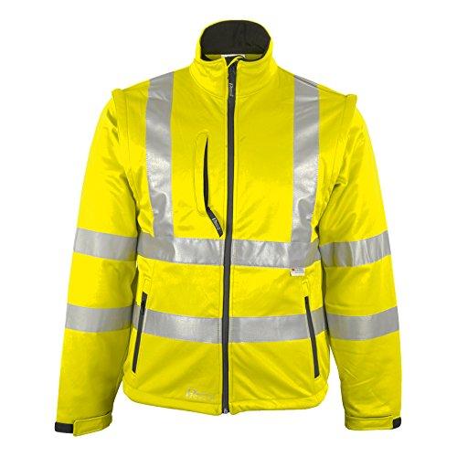 Prevent Warnschutz-Softshell-Jacken 8060G, leuchtgelb, Gr. XL