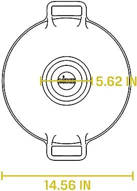 Lodge Pro-Logic Wok with Flat Base and Loop Handles, 14-inch, Black
