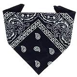 ...KARL LOVEN - Bandana 100% algodón - Paisley Azul marino - Pañuelo para el cuello, cabeza bufanda para hombre, mujer y niño muñeca Pulsera motociclista Deportiva