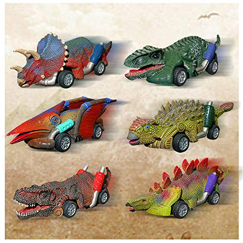 Dinosaur Toy Pull Back Cars  Dinosaur Toys Cars Vehicles New Model Dino cars toys Dinosaur Toys Gifts for 314 Year Old Toddlers Boys Girls Birthday Christmas Party favor for Children  6 Pack