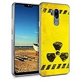 kwmobile Hülle kompatibel mit LG G7 ThinQ/Fit/One - Hülle Handy - Handyhülle Radioaktivität Schwarz Gelb