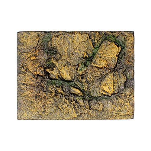HUHU833 3D Foam Rock Reptile Stone Aquarium Background Fish Tank Board Decor (G)