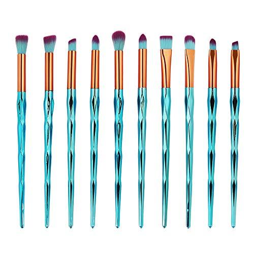 Ensemble de brosse de maquillage, 20pcs Premium Eye brosses cosmétiques pour eyeliner Eye Shadow sourcil, fibre synthétique poils cosmétiques mélange brosse outil,GG