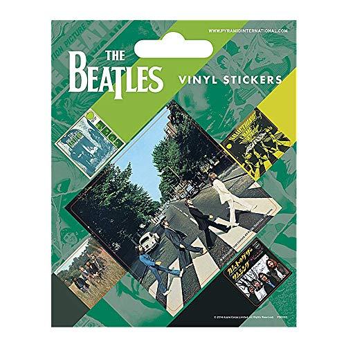 Juego de 5 pegatinas de vinilo auténticas de The Beatles Abbey Road