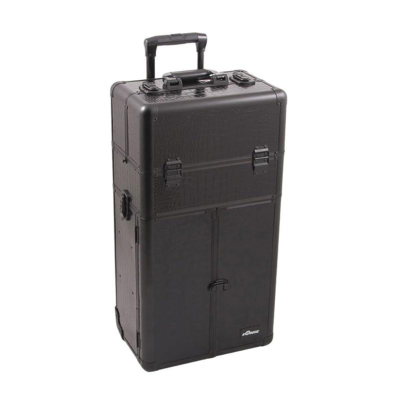 Craft Accents I3465 Croc Trolley Craft/Quilting Storage Case, Black