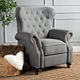 Christopher Knight Home Walder Tufted Fabric Recliner, Charcoal
