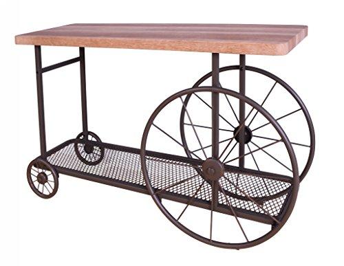 ACME Francie Sofa Table - 82863 - Oak & Antique Gray