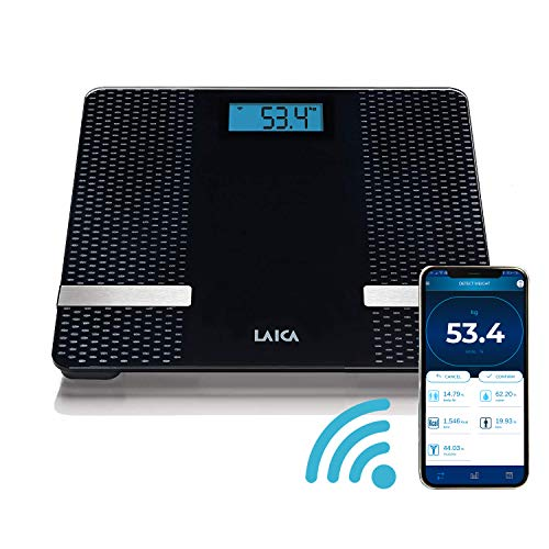 Laica PS7002 Smart Bilancia Pesapersone Elettronica, iOS 10+/Android 6.0+